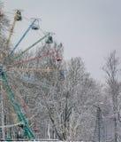 Starzy ferris toczą wewnątrz Sigulda, Latvia Obrazy Stock