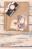 Starzy fotografia albumu wspominki Obraz Royalty Free