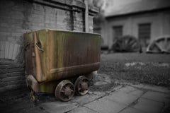 Starzy górniczy pojazdy obraz royalty free