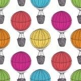 Starzy gorące powietrze balony ilustracja wektor
