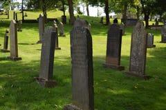 Starzy grób kamienie Zdjęcia Stock