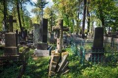 Starzy grób w Lviv Obraz Royalty Free