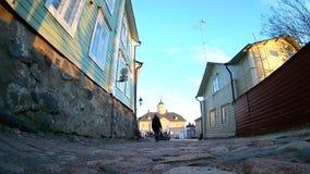 Starzy grodzcy domy w Porvoo, Finlandia zdjęcie wideo