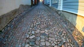 Starzy grodzcy domy w Porvoo, Finlandia zbiory wideo