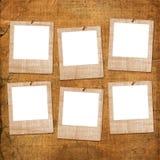 starzy grunge papiery sześć obruszeń Zdjęcie Stock