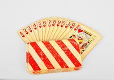 Starzy grzebaków karta do gry Fotografia Royalty Free