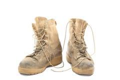 Starzy i brudni bojowi buty obraz royalty free