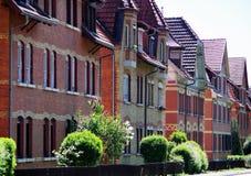 Starzy i konserwujący ceglani domy Obraz Royalty Free
