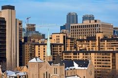 Starzy i nowożytni budynki w mieście Obraz Royalty Free
