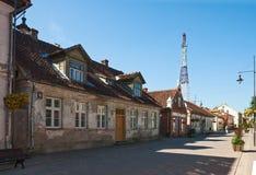 Starzy jednopiętrowi domy Zdjęcie Royalty Free