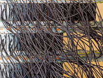 Starzy kable na pulpicie operatora i lonty Zdjęcia Stock