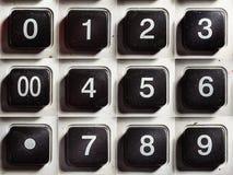 Starzy kalkulatorów guziki Z liczbami Zdjęcie Stock