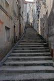 Starzy kamienni schodki na ulicie w Dalmatia, Chorwacja Fotografia Royalty Free