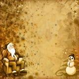 starzy karciani boże narodzenia ilustracji