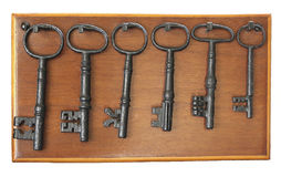 Starzy klucze Zdjęcia Royalty Free