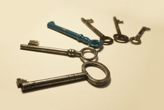Starzy klucze Zdjęcie Royalty Free