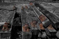 Starzy kolejowi tajni agenci w stosie Obrazy Stock