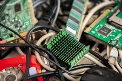 Starzy komputerów kable, przyrząda i zdjęcie royalty free