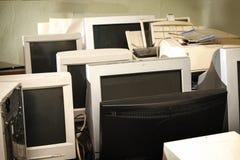 Starzy komputerów monitory Zdjęcie Stock
