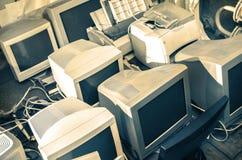 Starzy komputerów monitory Fotografia Stock