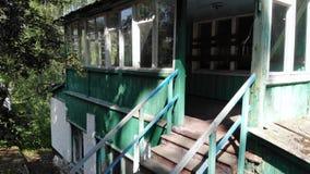 Starzy kroki w Zaniechanym budynku zbiory