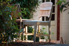 Starzy krzesła obraz royalty free