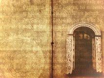 starzy książkowi drzwi Ilustracji