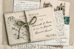 Starzy listy i antykwarskie francuskie pocztówki Obraz Royalty Free