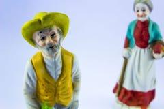 Starzy ludzie statui Obraz Royalty Free