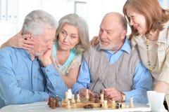 Starzy ludzie sztuka szachy Zdjęcie Stock