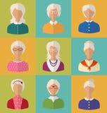 Starzy ludzie twarze kobiety Sędziwy Zdjęcie Royalty Free