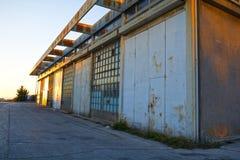 Starzy magazynowi budynki zdjęcie royalty free