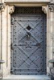Starzy metali drzwi st Vitus katedra obraz royalty free