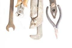 Starzy metali narzędzia na wierzchołku obraz royalty free