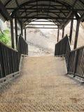 Starzy metali schodki wiadukt Zdjęcia Royalty Free