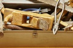 Starzy metalu budynku narzędzia zdjęcie stock
