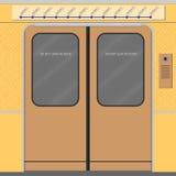 Starzy metro drzwi Fotografia Royalty Free