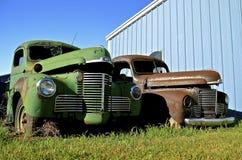 Starzy Międzynarodowi pickups Obraz Royalty Free