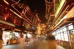 Starzy miasto bóg Świątynni przy nocą w Szanghaj YuYuan Obrazy Stock