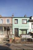 Starzy Mieszkaniowi rzędów domy Obrazy Stock