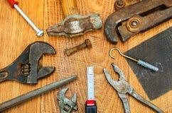 Starzy narzędzia. Obrazy Stock