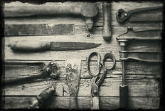 Starzy narzędzia Zdjęcia Royalty Free