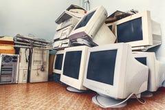 Starzy nieużywani komputery Fotografia Stock