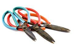 Starzy nożyce ośniedziali Fotografia Stock
