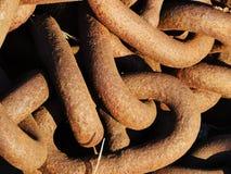Starzy Ośniedziali kotwicowi łańcuchy Zdjęcie Royalty Free
