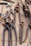 starzy ośniedziali narzędzia Zdjęcie Stock