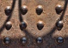 Starzy ośniedziali metali nity Zdjęcie Stock