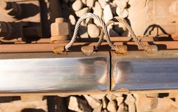 Starzy ośniedziali metali tajni agenci na kolei Zdjęcie Royalty Free