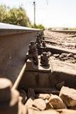 Starzy ośniedziali metali tajni agenci na kolei Fotografia Stock