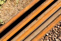 Starzy ośniedziali metali tajni agenci na kolei Obraz Stock